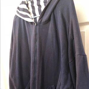 Jackets & Blazers - Reversible zip front hoodie